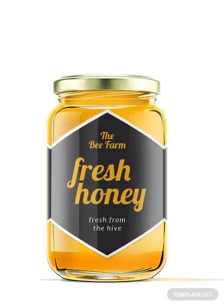 Free Honey Jar Label Template Download 118 Labels In PSD Illustrator Word Publisher Pages