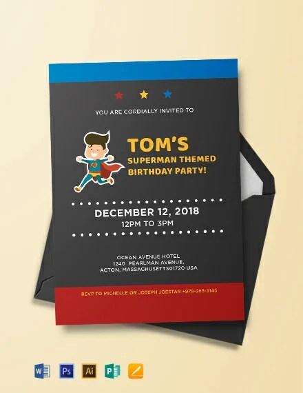 21 superhero birthday invitations