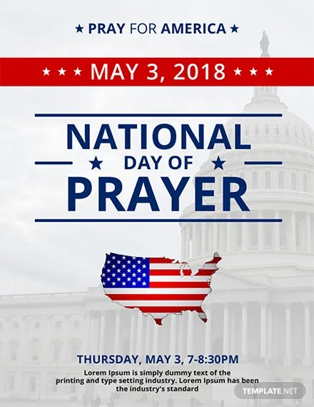 FREE National Day Of Prayer Flyer Template Download 1423 Flyers In PSD Illustrator Word