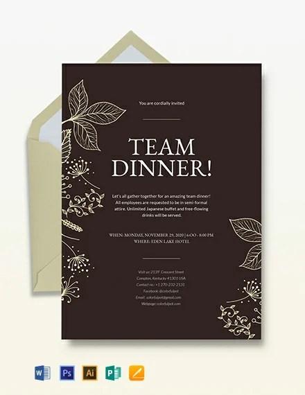 Team Dinner Invitation Template Download 241 Invitations