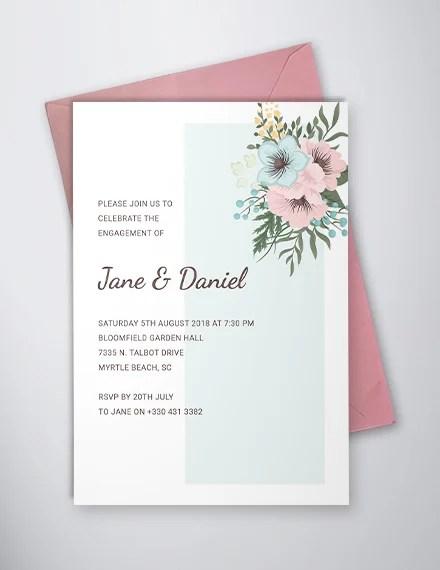 engagement ceremony invitations word