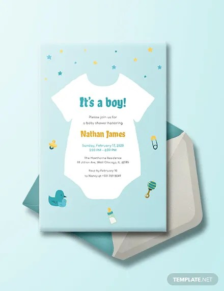 53 Baby Shower Invitations Designs Psd Ai Word Eps