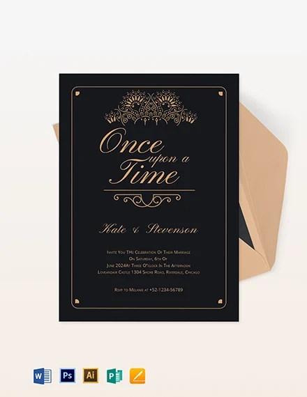 6 fairytale wedding invitation designs