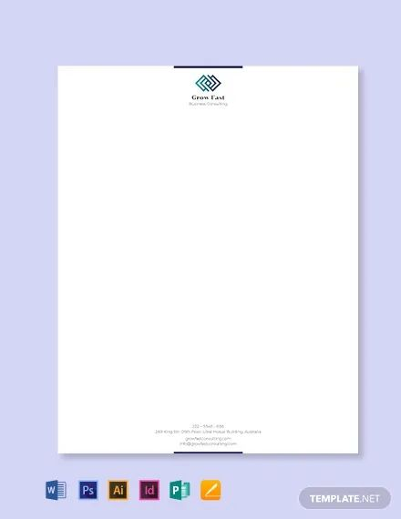 business letter with letterhead format