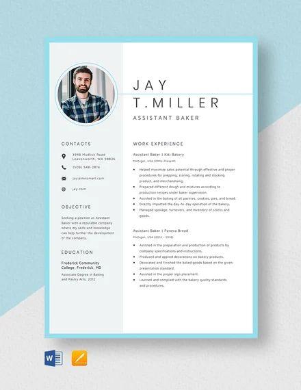 banker resume template word
