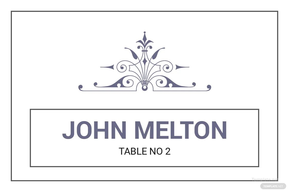 Free Wedding Graphic Design Name Card Template in Adobe