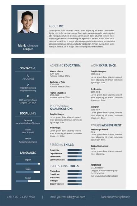Free Resume Templates To Print