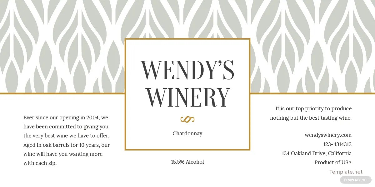 Free Wine Bottle Template in PSD, MS Word, Publisher
