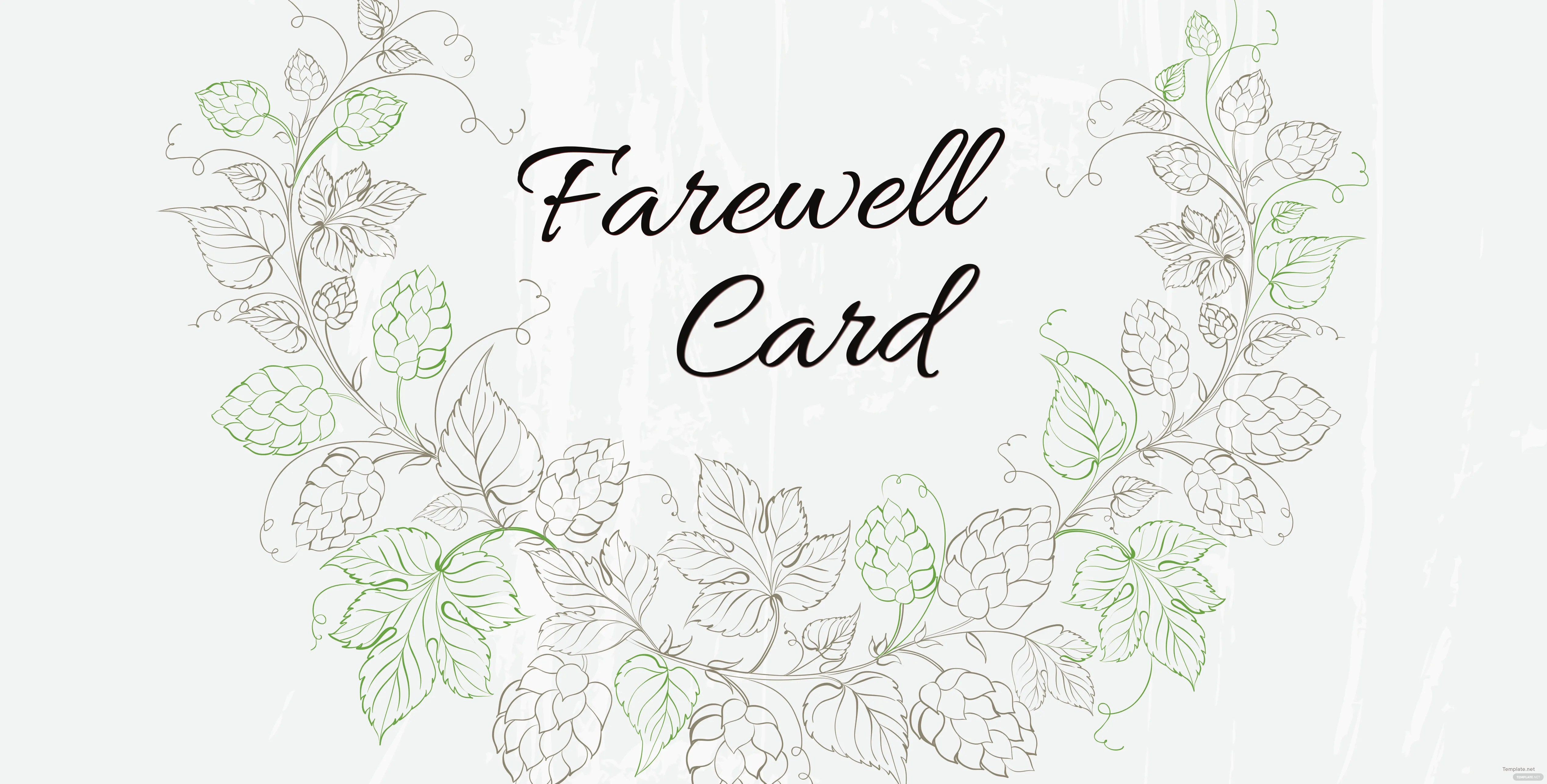 Free Farewell Invitation Card Template in Adobe Photoshop