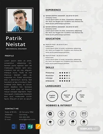 free graphic design resume template word