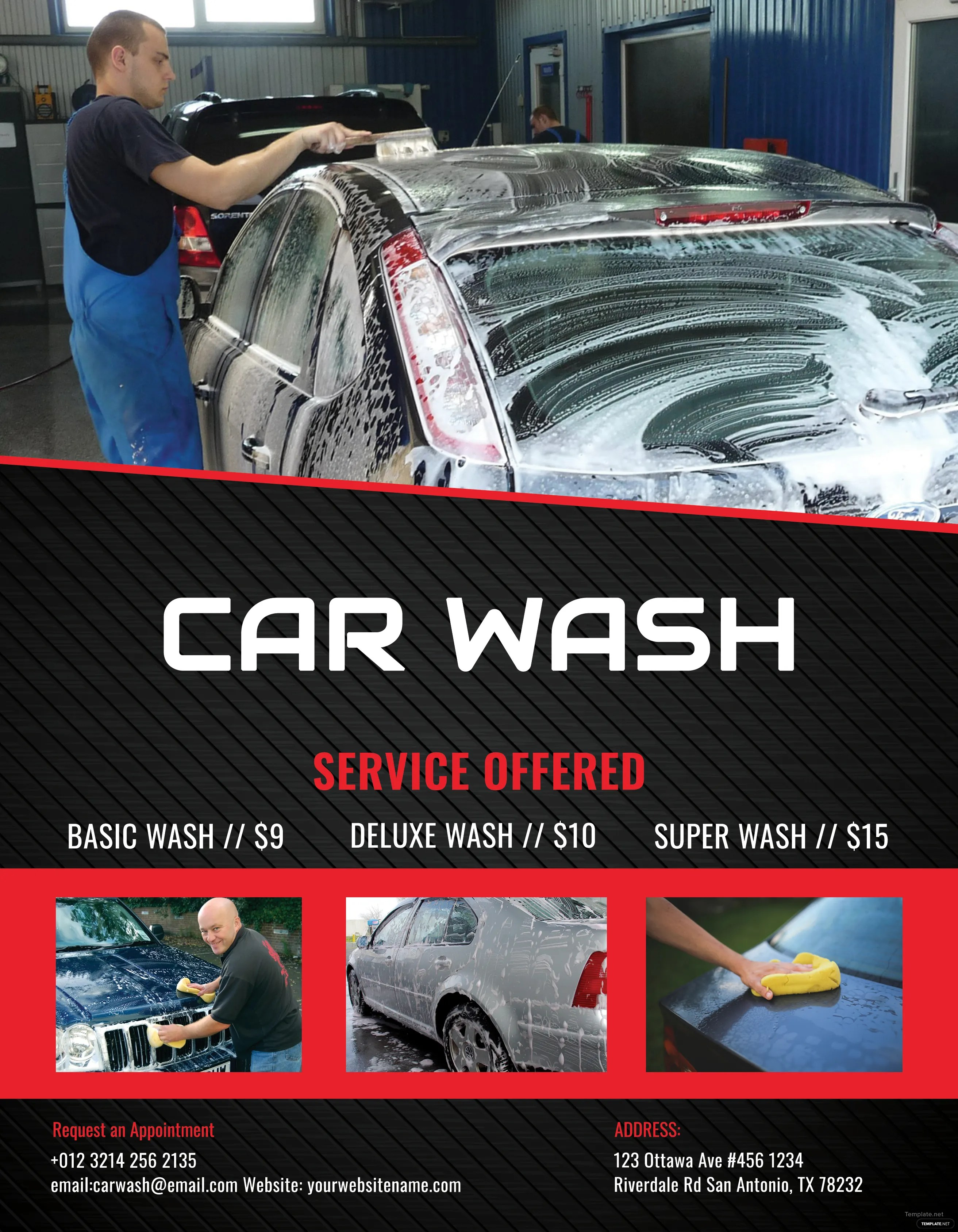 Gallery Of Car Car Wash Flyer Template
