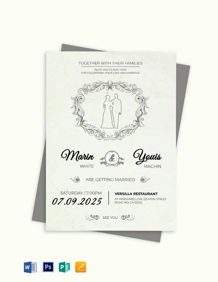 wedding invitation template 458 word