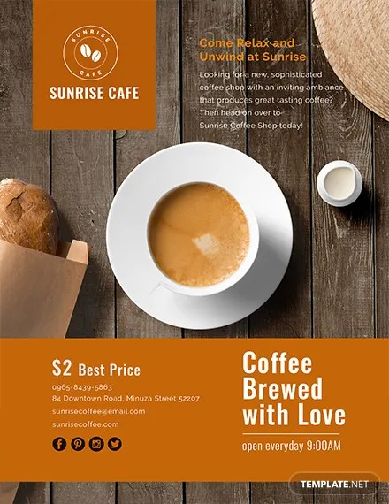 FREE Cafe Flyer Template Download 675 Flyers In PSD Illustrator Word Publisher Apple Pages