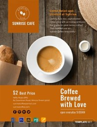 FREE Cafe Flyer Template - Word (DOC)   PSD   Apple (MAC ...