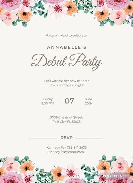 Free Formal Debut Invitation Template Download 344 Invitations In Word Publisher Illustrator