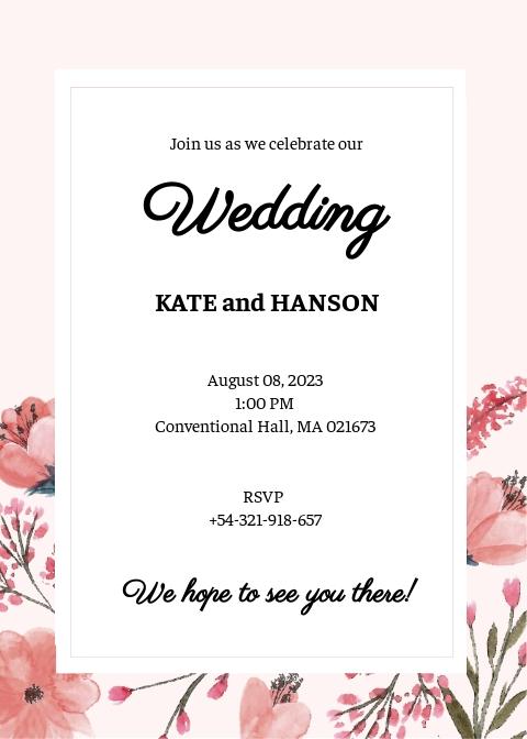 blank wedding invitation template free
