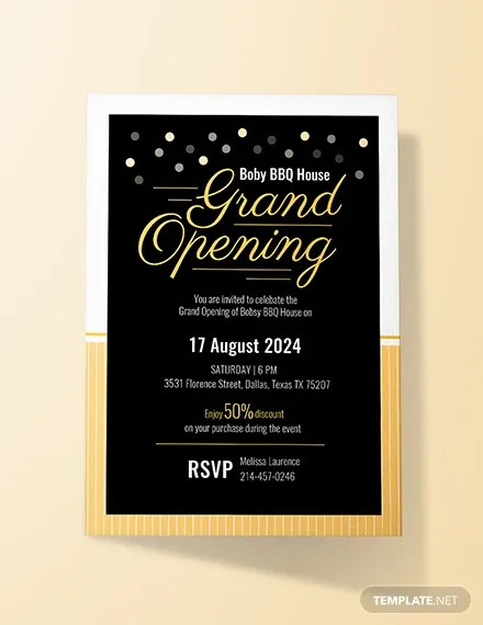 FREE Hotel Opening Invitation Card Template Download 518
