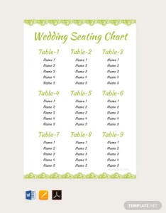 Free elegant wedding seating chart template also download charts in rh