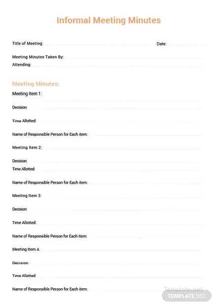 Free Committee Meeting Minutes Template: Download 65