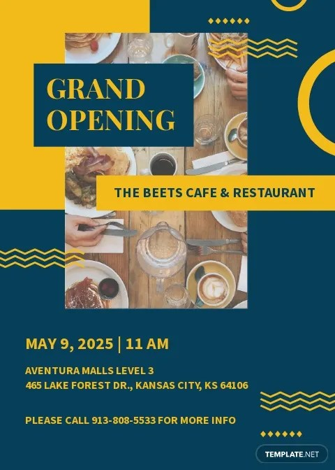 free cafe opening invitation templates