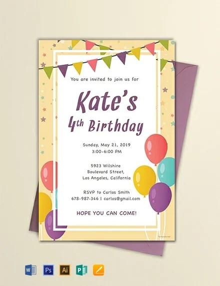 free email birthday invitation