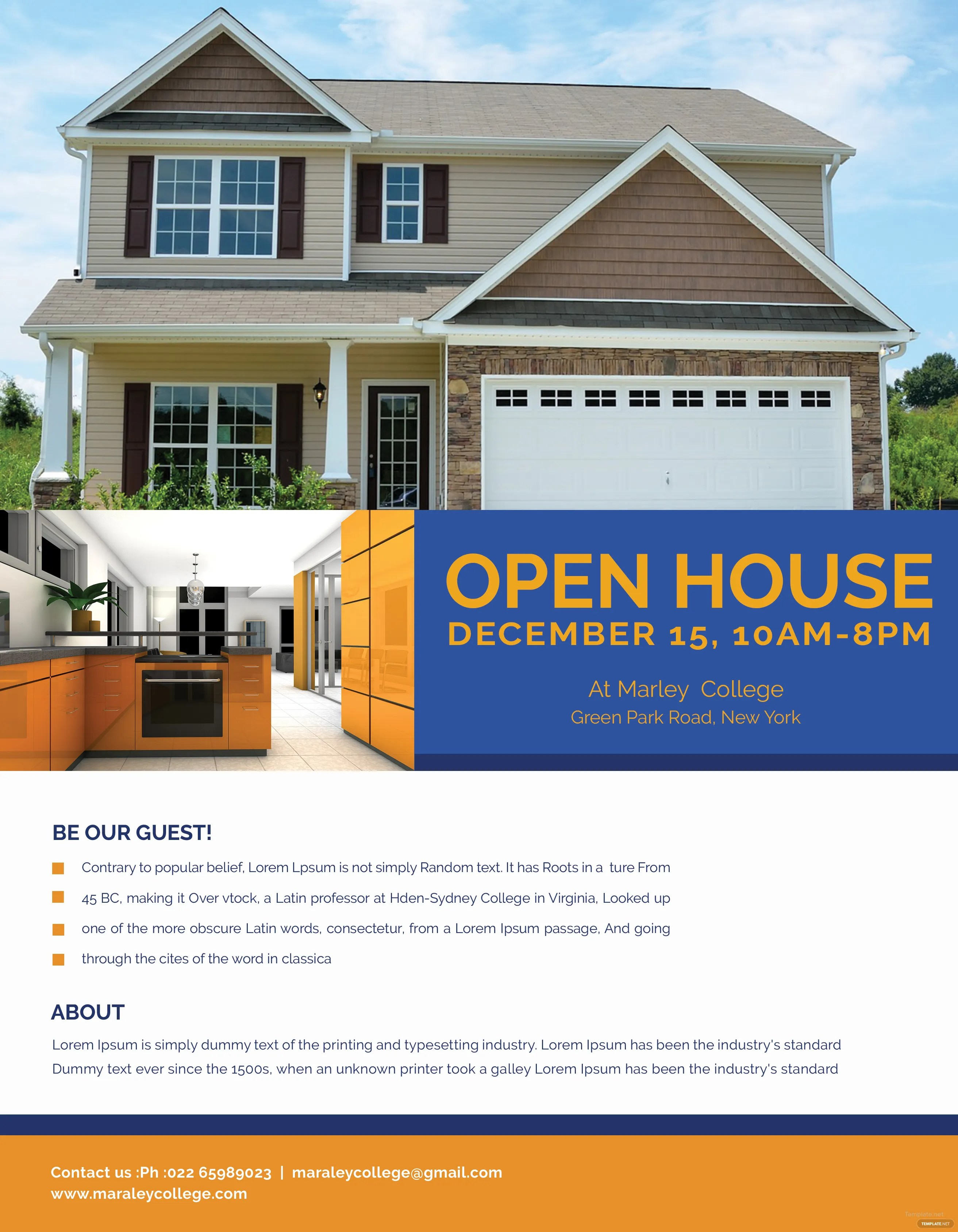 Mortgage Open House Flyer Template In Adobe Photoshop