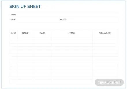 template for sign up sheet template for sign up sheet template