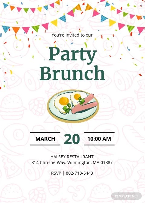 free brunch invitation templates