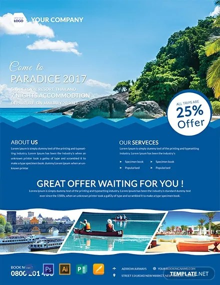 Free Vacation Flyer Templates Word Doc Psd Indesign Apple Pages Publisher Illustrator Template Net
