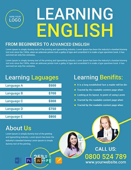tutoring flyer templates free
