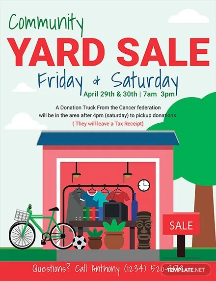 Yard Sale Images Free : images, Flyer, Templates, Word,, Premium