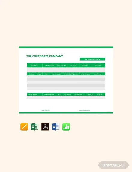 Fill, sign and send anytime, anywhere,. Earning Statement Pay Stub Template Google Docs Google Sheets Excel Word Apple Numbers Apple Pages Pdf Template Net