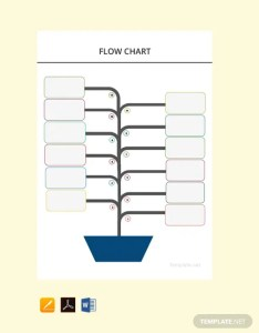 Free blank flow chart template also download charts in word pdf rh