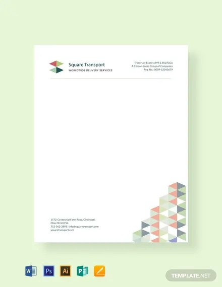 FREE Professional Letterhead Template Download 107