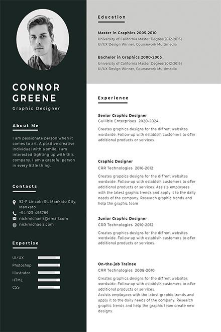 free printable job resume template