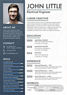 Free Professional Civil Engineer Resume Template In Adobe Photoshop InDesign Microsoft Word