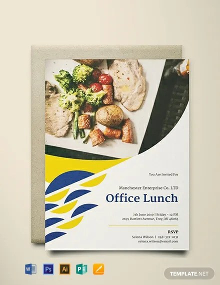 FREE Office Lunch Invitation Template Download 884 Invitations In PSD InDesign Word