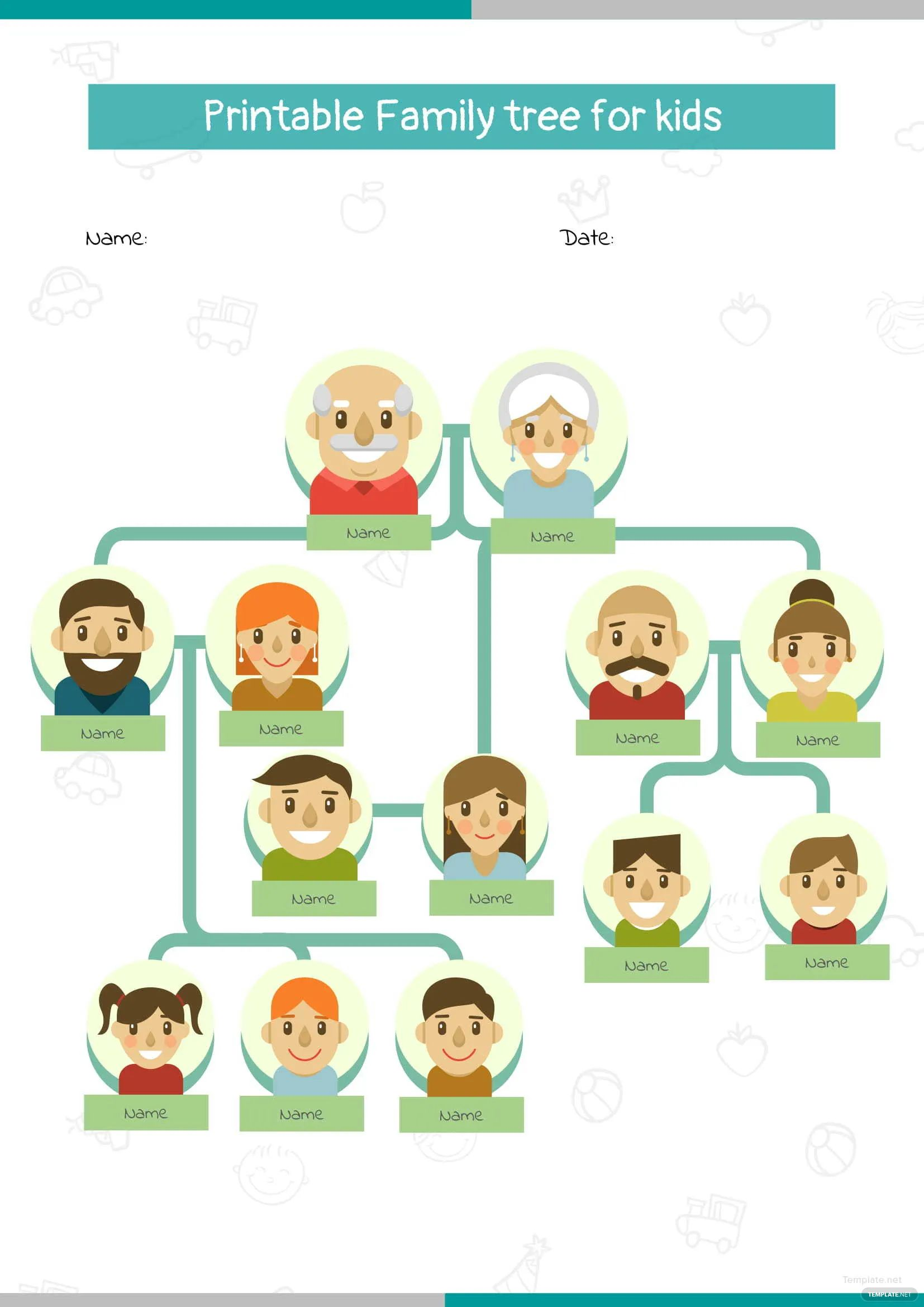 family tree project for kids examples
