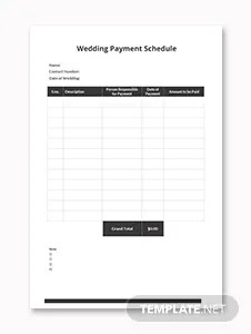 Monthly Payment Schedule Template in Microsoft Word, Excel