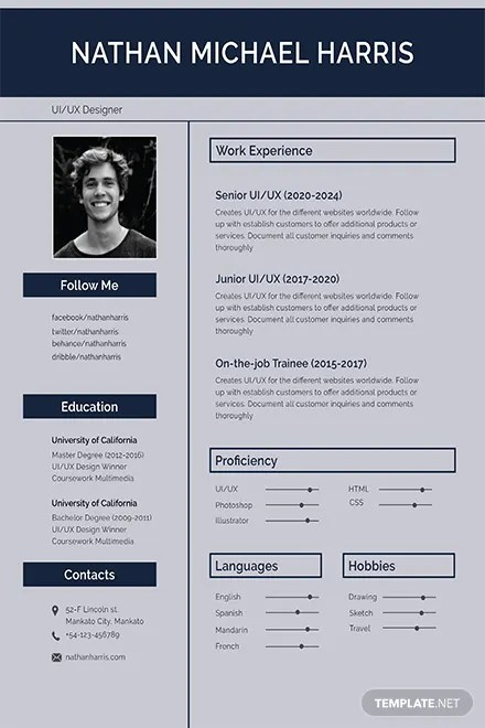 Free Resume Templates | Download Ready-Made | Template.net