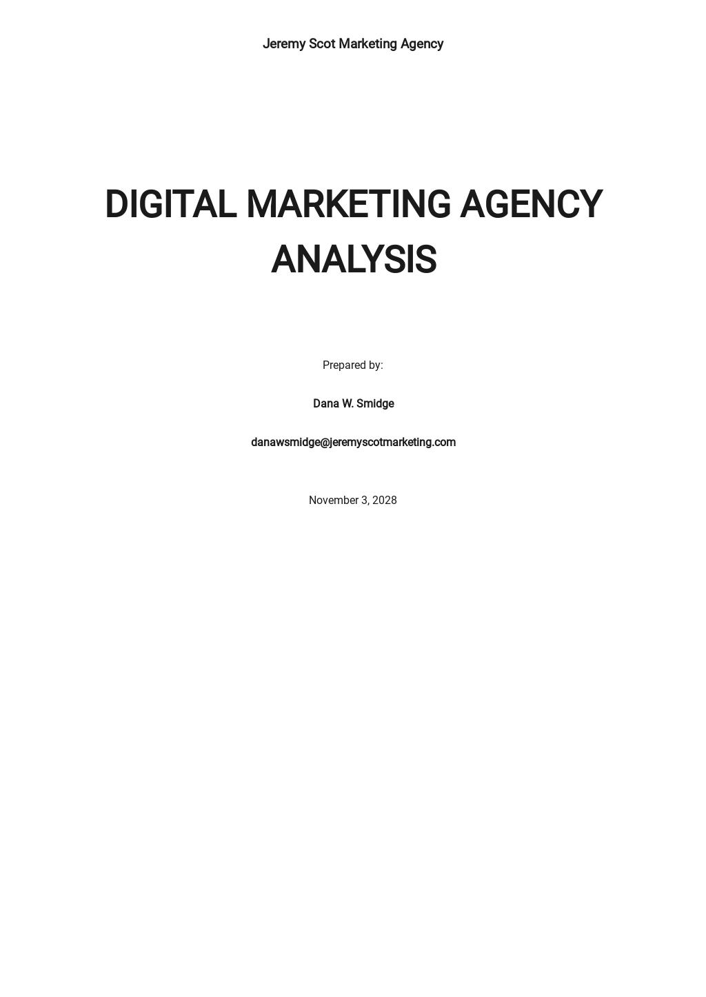 Download 42 Marketingysis Templates