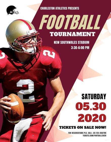 Football Flyer Template in Adobe Photoshop, Illustrator, Microsoft ...