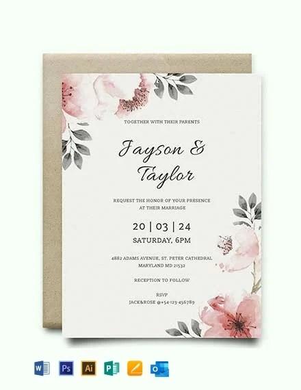 41 Free Wedding Invitation Templates
