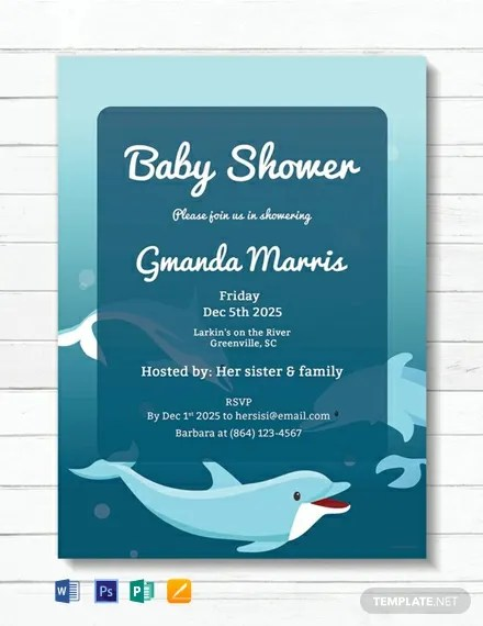 19 Free Baby Invitation Templates Word Psd Indesign