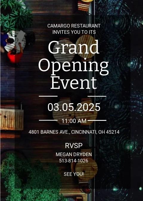 free grand opening invitation templates