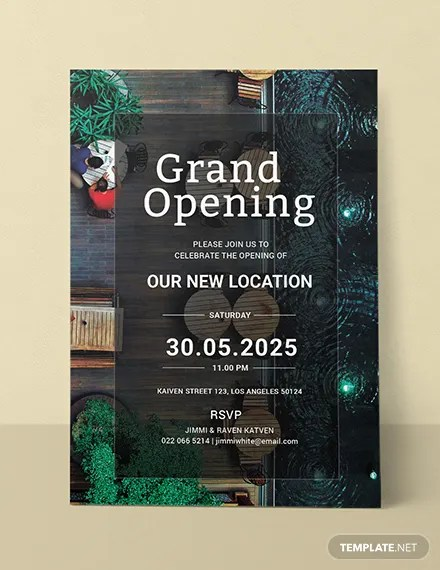 FREE Restaurant Opening Invitation Template Download 518