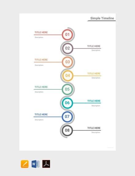 free simple timeline template