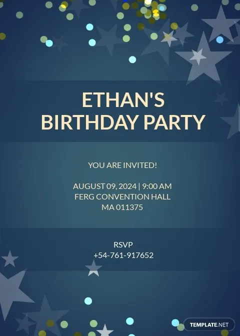 free birthday invitation templates in