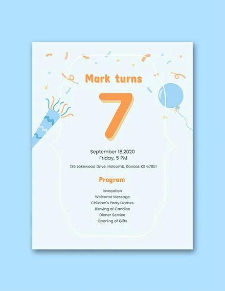 birthday program sample