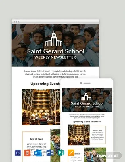 They got dozens of unique ideas from professional designers and picked their favorite. Weekly Email Newsletter Template In Html5 Word Outlook Apple Pages Psd Publisher Template Net